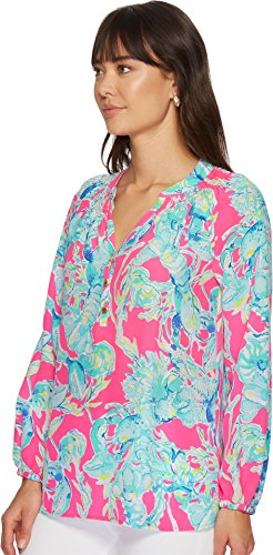 Lilly Pulitzer Women's Elsa Top Raz Berry Lobsters in Love Small by Lilly Pulitzer (Image #1)