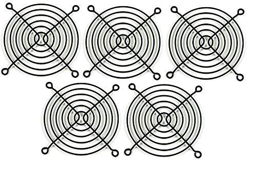 80mm Black Steel Computer Case Cooling Fan Grill / Finger Guard (Set of Five)