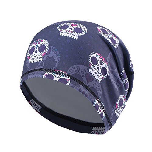 - UHEREBUY Summer Running Skull Cap/Beanie Cap/Helmet Liner/Dew rag/Chemo Cap/Bald Cap for Men and Women Hat Liner