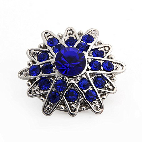 - 18mm 3D Rhinestone Drill Snaps Chunk Charm Button for Noosa Leather Bracelets 31