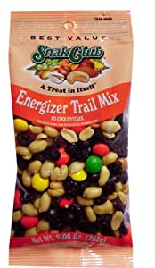 Snak Club Energizer Trail Mix, 9-Ounce Bags (Pack of 6)
