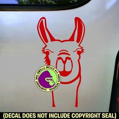 Llama Face Vinyl Decal Sticker C