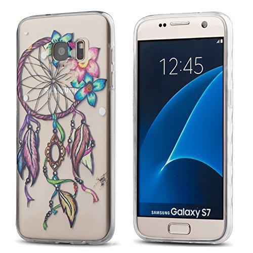 Galaxy S7 Case,3Cworld Ultra Thin Clear Art Pattern Crystal Gel TPU Rubber Flexible Slim Skin Soft Case for Samsung Galaxy S7 (Dream - Skin Rubber Case