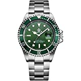 Mens Luxury Watches Rotatable Bezel Sapphire...