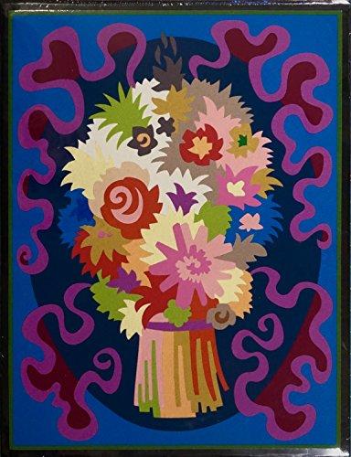"""BOUQUET""Spanish""Encanto""Tapestry,15.5'' X 20.5,Original Mid-Century Modern, c.1965,100% Virgin Wool Felt,Mint Condition. by Encanto Tapestries"