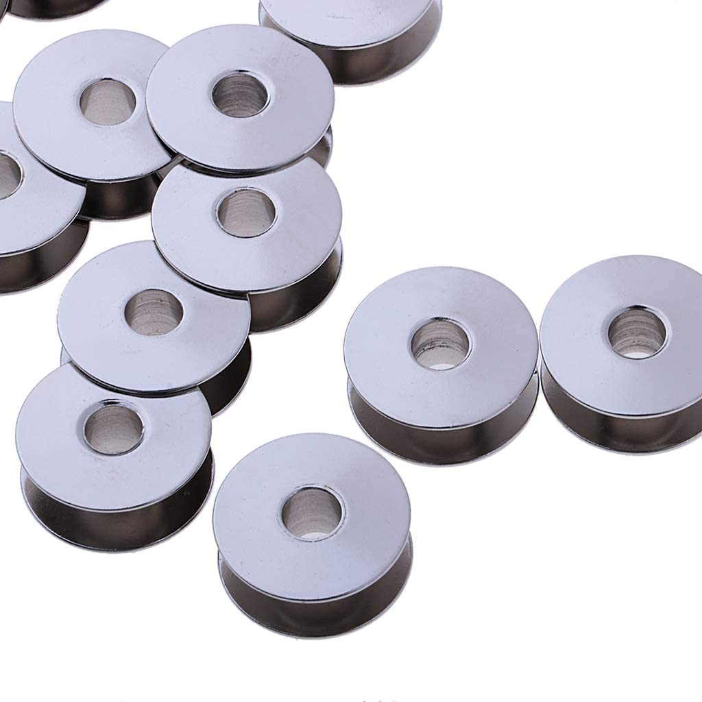 perfektchoice 20pcs Universal Metal BobbinS Fits for Most of Industrial Sewing Machines