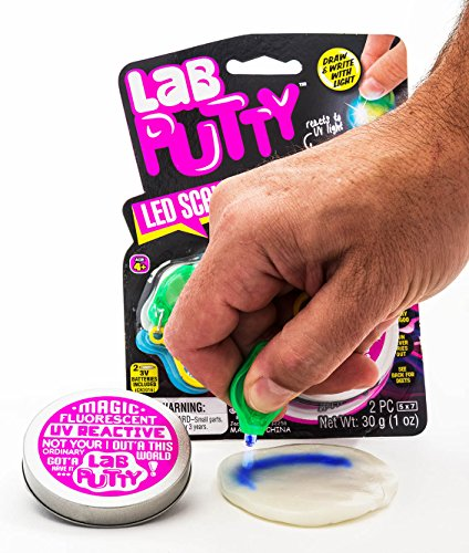 LED Lab Putty Scribbler & Bouncy (Pack of 144) by JA-RU | UV Reactive Sensitive Putty Painting. | Item #9574-144 by JaRu (Image #4)