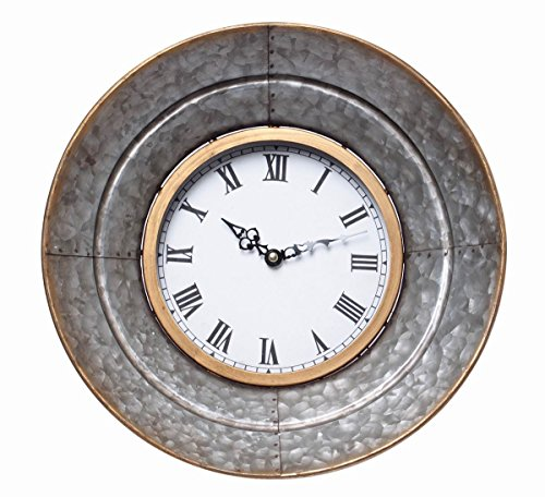 (Hosley Metal Wall Clock- 13.3