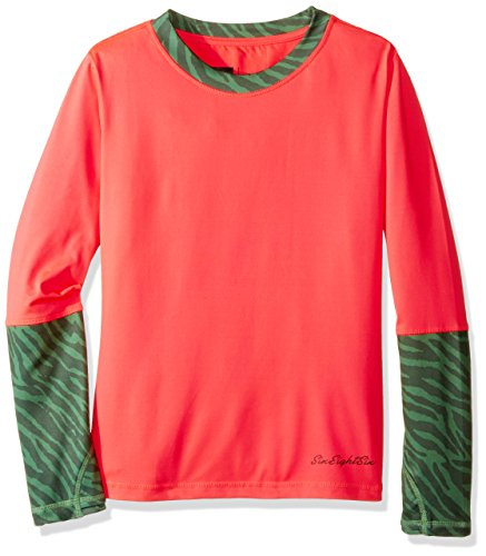Image of 686 Girl's Serenity Baselayer Top, Electric Poppy, Large