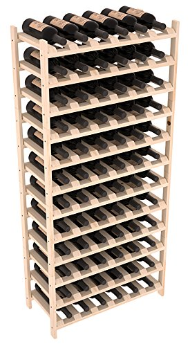 (Wine Racks America Ponderosa Pine 72 Bottle Stackable. Unstained (NEW DESIGN AS OF 6/17/19))