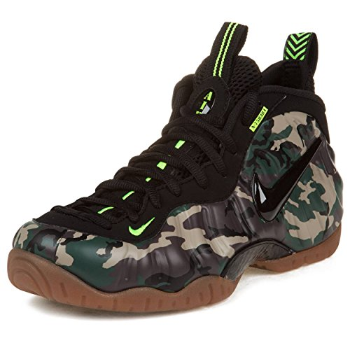 san francisco 77ca2 4574e Nike Mens Air Foamposite Pro PRM LE Army Camo Forest Black Synthetic  Basketball Shoes Size