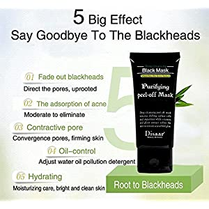 Black Charcoal peel off mask- 2 Pack Vena Beauty Blackhead Remover Purifying Deep Cleansing Facial Black Mask, Deep Pore Cleanse for Acne, Oil Control 2X 60g