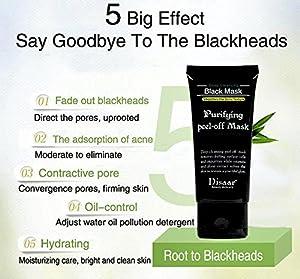 Deep Clean Blackhead, Charcoal Peel off Mask, Black Mask, Oil-control Anti-aging Acne Treatment Absorbing Pores Blackhead and Stubborn Dirt, Premium Quality Blackhead Remover Mask