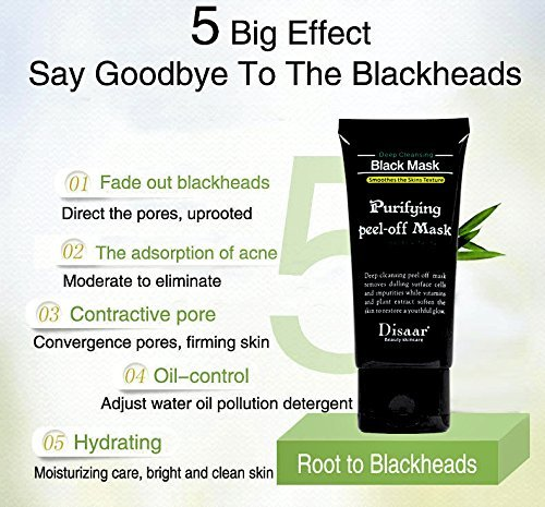 Vassoul Blackhead Remover Mask, Purifying Peel-off Mask with Activated Charcoal Deep Pore Cleanse for - Skin Toned Colors Warm