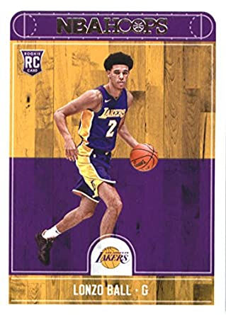 cc80118a5 2017-18 Panini Hoops  252 Lonzo Ball RC Los Angeles Lakers Basketball Card  Rookie
