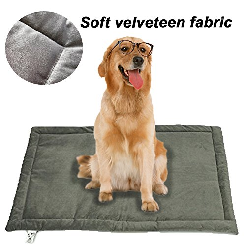 Dog Bed Mat Washable Soft Fleece Crate Pad - Anti-Slip Fleece Kennel Pad for Small Medium Large Pets Mattress by HAOLONGXIANG (Image #4)
