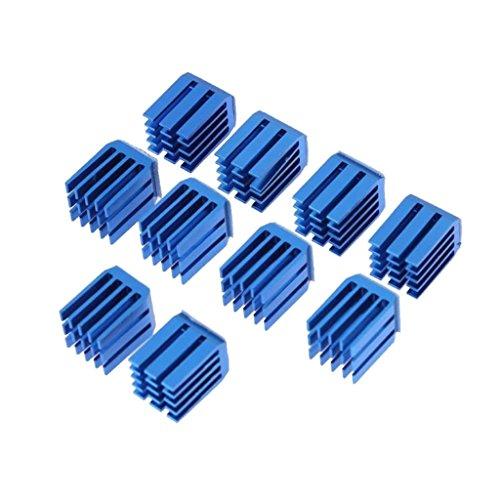 Fenteer 10pcs/lot Motor Driver Heat sinks Cooling Block Heatsink for TMC2100/8825 for sale