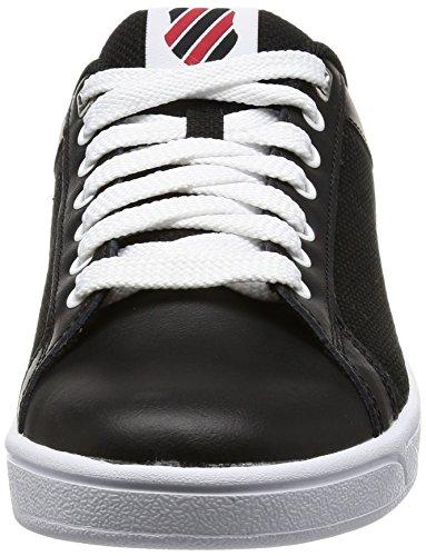K-swiss Mens Clean Court Cmf Fashion Sneaker Nero / Peperoncino / Limoges