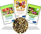 Wildflower Seeds Bulk Perennial Packets - 8 BONUS Gardening eBooks - 87,000 Open-Pollinated, Non-GMO, No Fillers, Annual, Flower Seed For Fall Planting, Bees, Humming Birds, Butterflies, Pollinators
