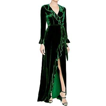 Meibax Robe Haute Doré De Pour Soirée En Femme Velours 5RL3AS4cjq