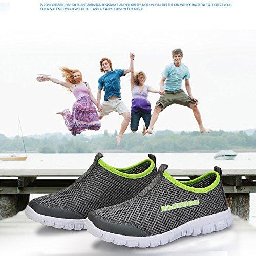Sneakers Quick Mens Gray Sport Dark OUYAJI Shoes Shoes Park Garden Lightweight Aqua Walking Water Beach Dry Womens cgTcqywAH