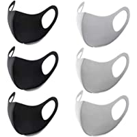 6 Black + Grey Dustproof Sunscreen Masks, Washable And Reusable Gas Masks, Comprehensive Protective Supplements, Other Air Irritants