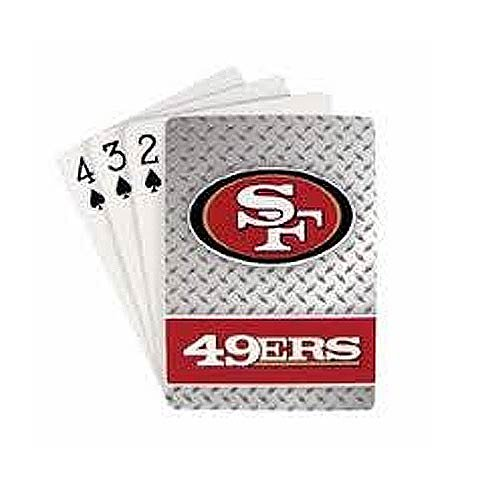Pro Specialties Group NFL San Francisco 49ers Diamond Plate Playing Cards