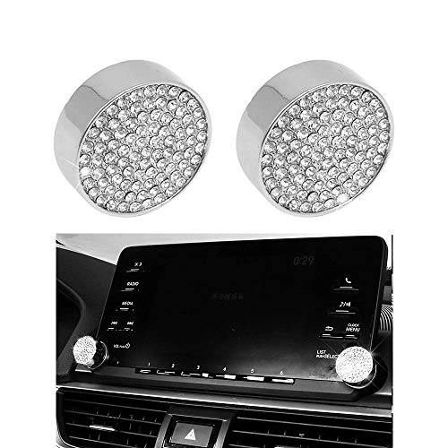 Senauto 2pcs Bling Navigation Touch Screen Knob Button Cover Compatible with Honda Accord Sport EX EX-L Touring Sedan - Honda Accord Touring
