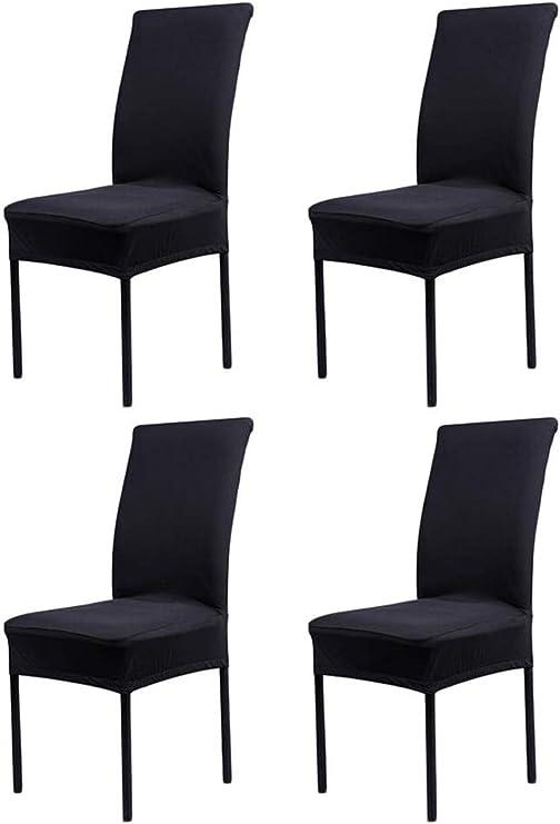 HMwish Fundas para sillas Pack de 4 Elástico Fundas sillas Comedor Extraíble Fundas Elásticas, Cubiertas para sillas: Amazon.es: Hogar