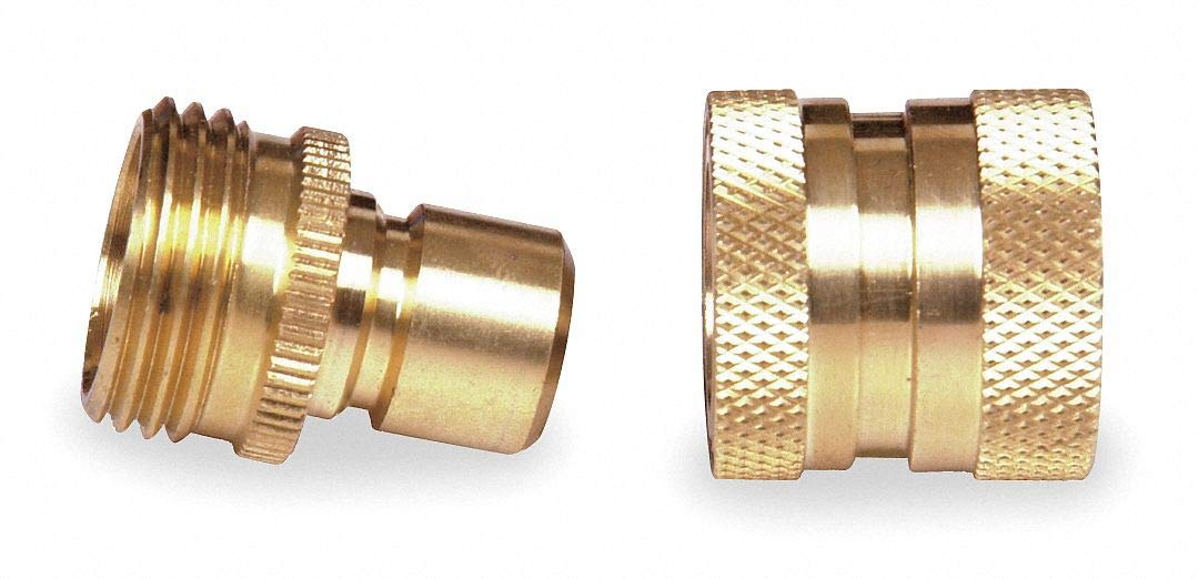 Brass Quick Connector Set, 3/4'' GHT Connection - pack of 5