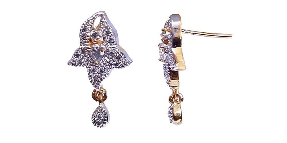 Girls Terramart/_ Stone Pendent Set/_Fashion Jewellery for Women White /& Gold