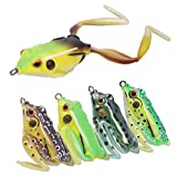 RUNCL Anchor Box - Premium Topwater Frog Lures, 2-Legged Frogs - Weedless Design, Tail-Weighted Construction, Lifelike Swimming Action, Rugged Double Hooks - Soft Fishing Lures (Pack of 5)