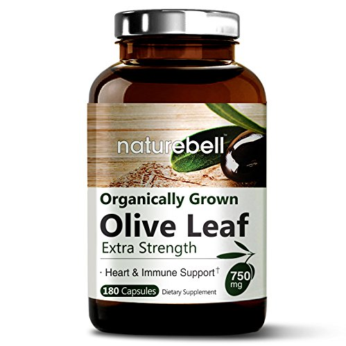 Maximum Strength Olive Leaf Extract 750mg,180 Capsules, Powerfully Supports Immune System, Cardiovascular Health & Antioxidant. Non-GMO & Made In USA