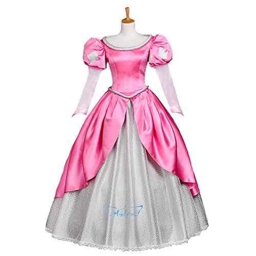 Angelaicos Womens Lolita Layered Party Costume Dress (L, Pink) (Snow White Halloween Costume Adults)