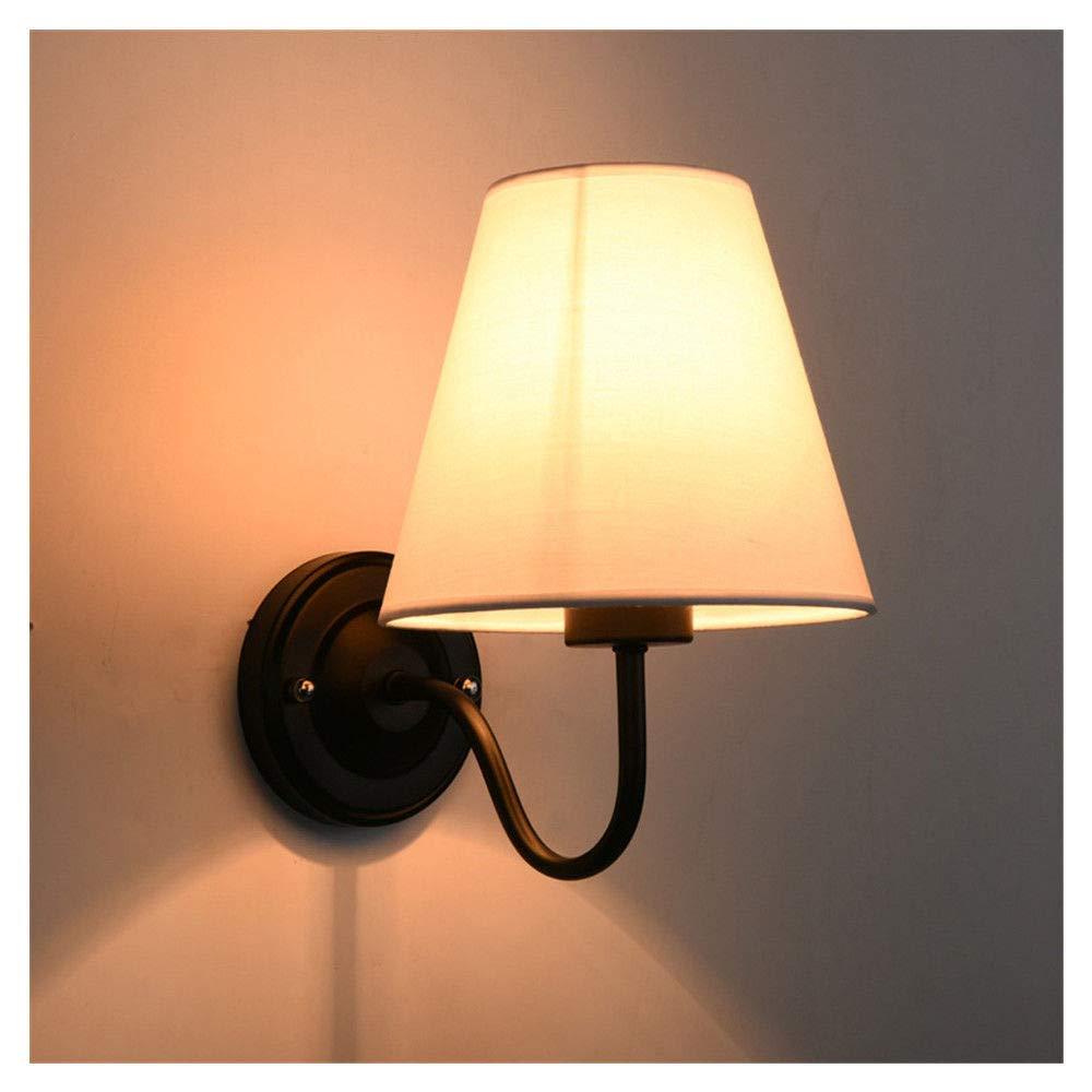 Wandleuchte Nachttischlampe Schlafzimmer einfache moderne Europäische Wohnzimmer Sonne Tischlampe Treppenhaus Wandleuchte 6026, milchweiß