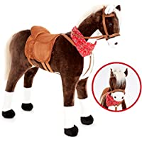 Knorrtoys Großes XXL Standpferd Liana mit Sattel Braun Pferd Stehpferd Reitpferd Reiten