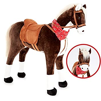 Knorrtoys groes xxl standpferd liana mit sattel braun pferd knorrtoys groes xxl standpferd liana mit sattel braun pferd stehpferd reitpferd reiten altavistaventures Images