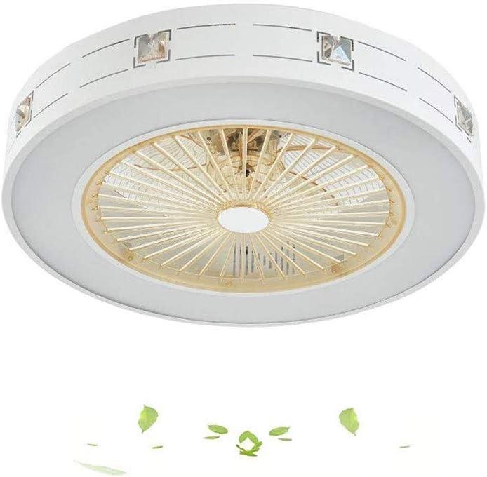 MYXMY Ventilador de techo luz de techo Ventilador de techo ventilador LED con las luces moderno creativo Nursery dormitorio de la lámpara de oficina Restaurante Sala Iluminación decorativa (Tamaño: 55