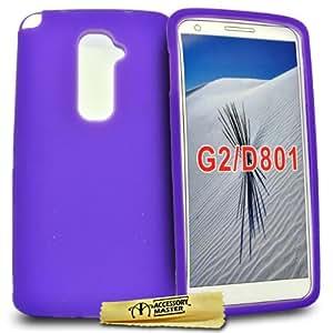 Accessory Master - Carcasa para LG Optimus G2 D802 (silicona), color violeta
