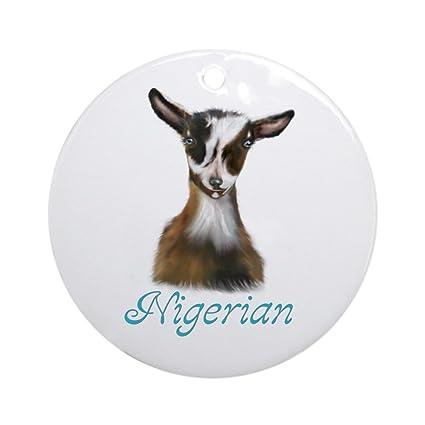 Christmas Goat.Amazon Com Cafepress Nigerian Goat Nikki Ornament Round