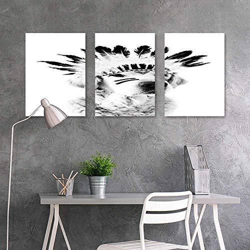 BDDLS Art Oil Painting Sticker Murals,Feathered Dog for Home Modern Decoration Print Decor,16x24inchx3pcs