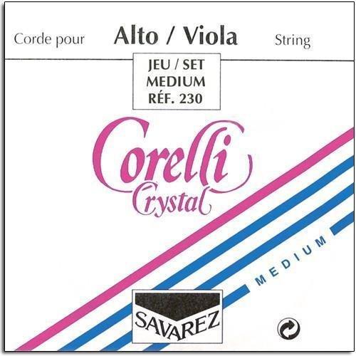 Corelli Crystal Viola String Set - 16 1/2 (Full) Size - Medium Gauge