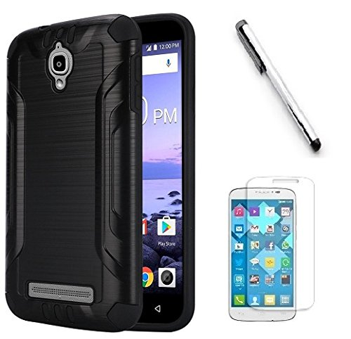 outlet store f9501 d3de5 Coolpad Canvas 3636A Case, Luckiefind Slim Brush Texture Hybrid Defender  Armor Protective Case Cover with Stylus Pen & Screen Protector Accessory ...