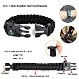Emergency-Survival-Kit-11-in-1-Outdoor-Survival-Gear-Tool-with-Survival-Bracelet-Folding-Knife-Compass-Emergency-Blanket-Fire-Starter-Whistle-Tactical-Pen-for-Camping-Hiking-Climbing
