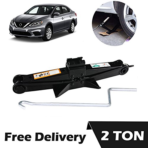 Ton Black with Crank Handle for Nissan Altima Sentra Sylphy Versa - Vehicle Car Van Truck Tire Lift Changing Emergency Tools ()