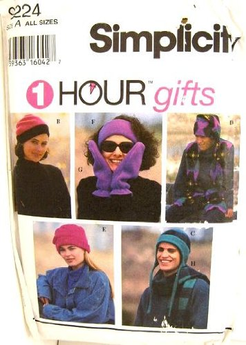 Simplicity Unisex Vest, Mittens, Caps, Hats, Scarf and Headband Sewing Pattern #9224