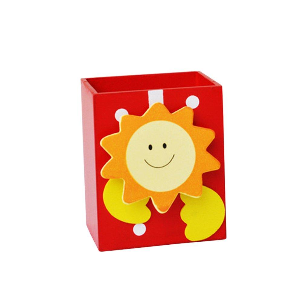 NUOLUX Portapenne Fumetto Portapenne per Bambini Multifunzionale Organizzatore per Scrivania (Rosso Sole)