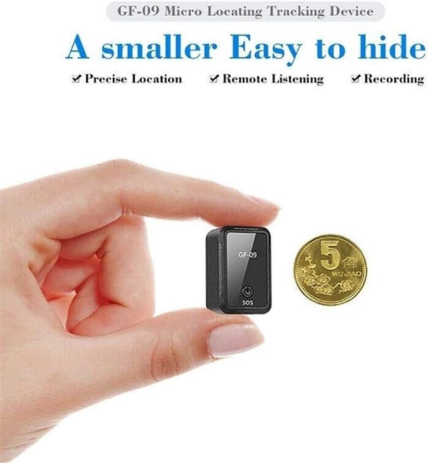 Lusenbo Lusenbo GF09 Mini GPS Tracker Dispositivo de Seguimiento de adsorci/ón magn/ética Fuerte para el Coche Posicionamiento en Tiempo Real Antirrobo antirrobo Localizador GPS