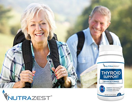 Thyroid Support Supplement - #1 Premium Formula to Boost Metabolism, Support Weight Loss, Increase Energy & Focus - with Iodine (Kelp), Zinc, L-Tyrosine, Ashwagandha, Vitamin B12-60 Capsules by Nutrazest (Image #2)