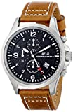 AVI-8 Men's AV-4001-02 Hawker Harrier II Stainless Steel Watch with Brown Leather Band